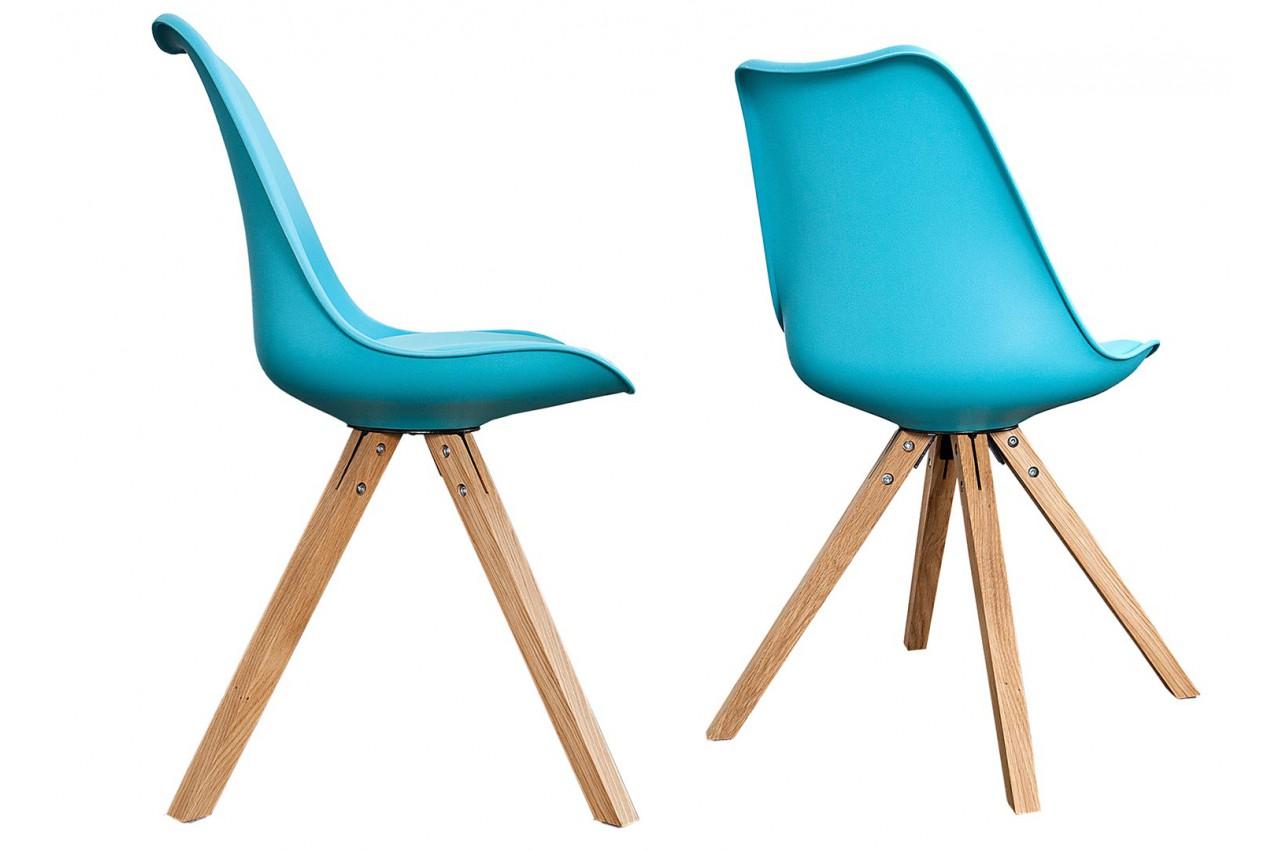 chaise scandinave de couleur pas cher pour salle manger