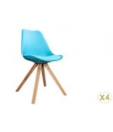 Chaise scandinave de couleur pas cher