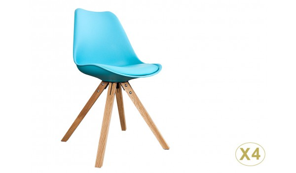 chaise scandinave de couleur pas cher pour salle manger. Black Bedroom Furniture Sets. Home Design Ideas