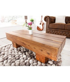 Table basse bois massif / Rectangulaire 100 cm