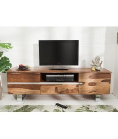 Meuble TV design 160 cm / Bois massif