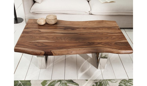 Table Basse Design 110 Cm Bois Massif