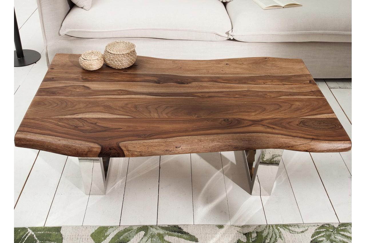 Table Basse Bois Massif Brut.Table Basse Design 110 Cm Bois Massif Pour Salon