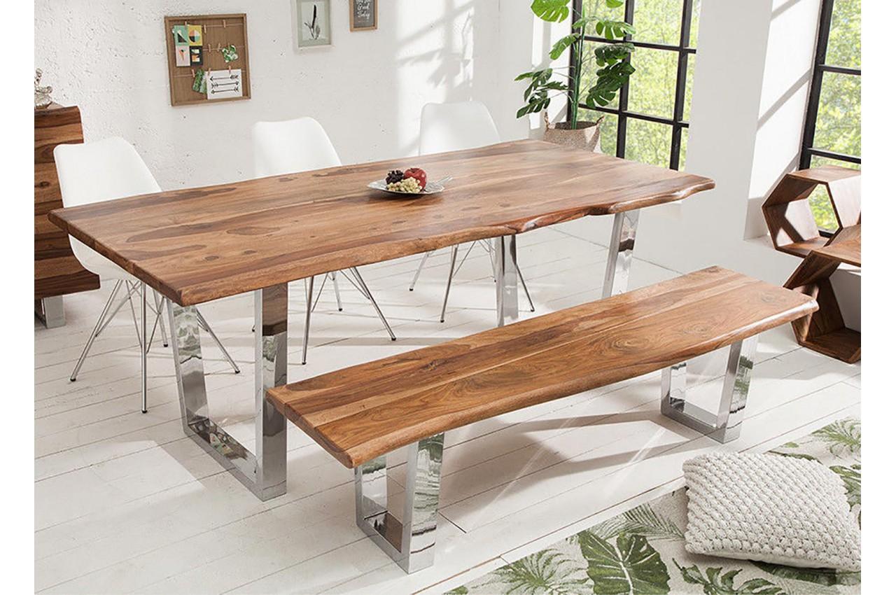 Table de salle manger design bois massif pour salle - Salle a manger en bois ...