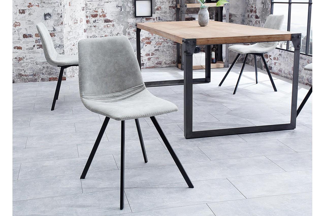 chaises design pas cher pieds m tal noir pour salle manger. Black Bedroom Furniture Sets. Home Design Ideas