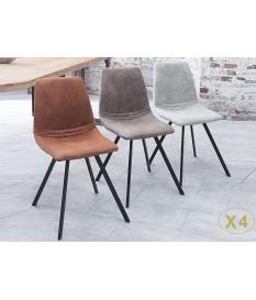Chaises design pas cher / Pieds métal noir