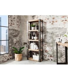 Meuble bibliothèque bois et métal / Type industrielle