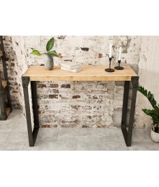 Meuble console en bois et métal / Type industrielle
