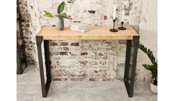 Meuble console en bois et métal / Style industriel