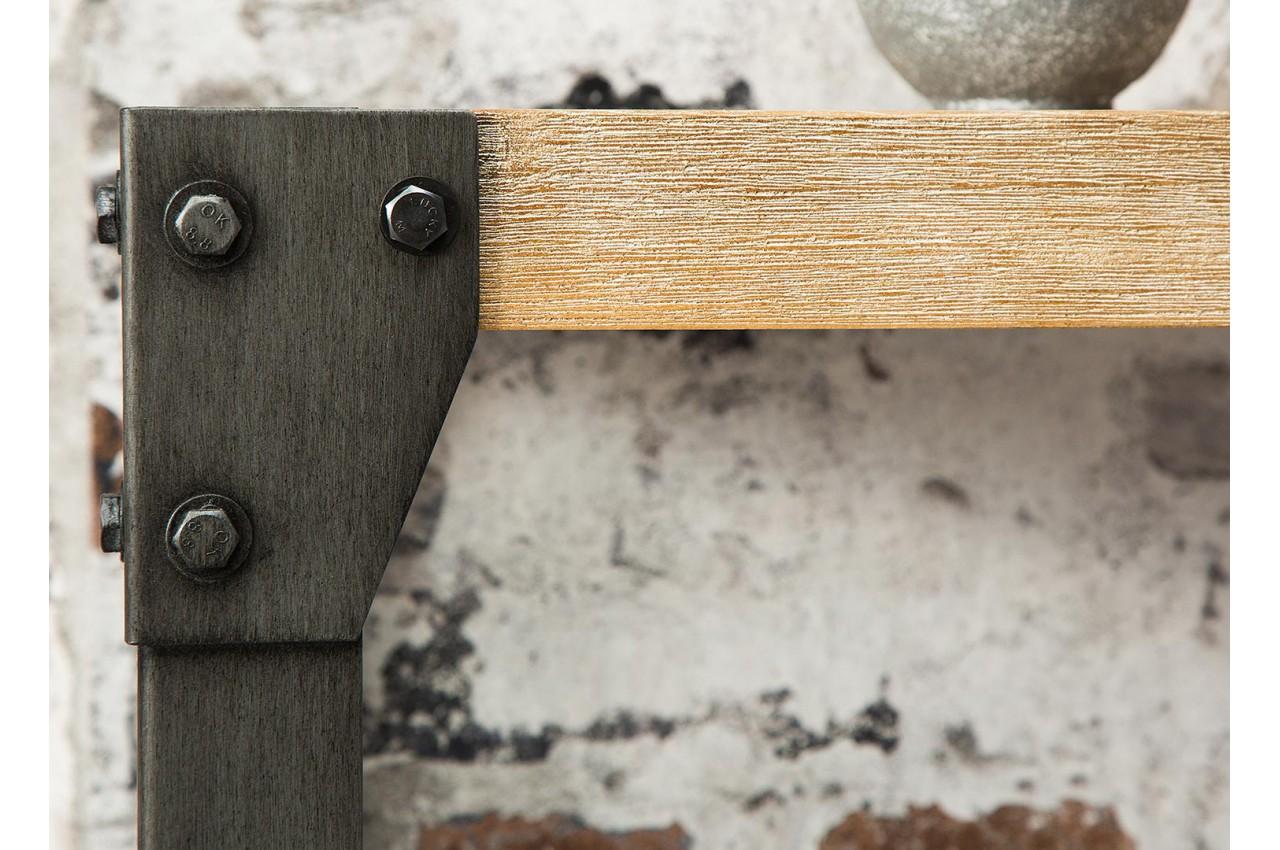 Armoire Chambre Metal : Meuble console en bois et métal style industriel pour