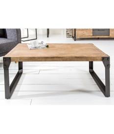Table basse rectangulaire bois et métal / Style industriel