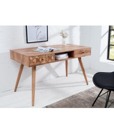 Table console scandinave / Effet marqueterie 3D