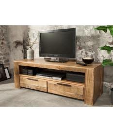 Meuble TV en bois massif / 130 cm