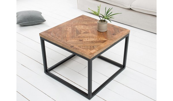 Table Basse Bois Et Fer Forge.Table Basse Fer Forge Et Bois Carree