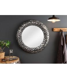 Miroir rond mural : Cadre métal et aluminium argenté