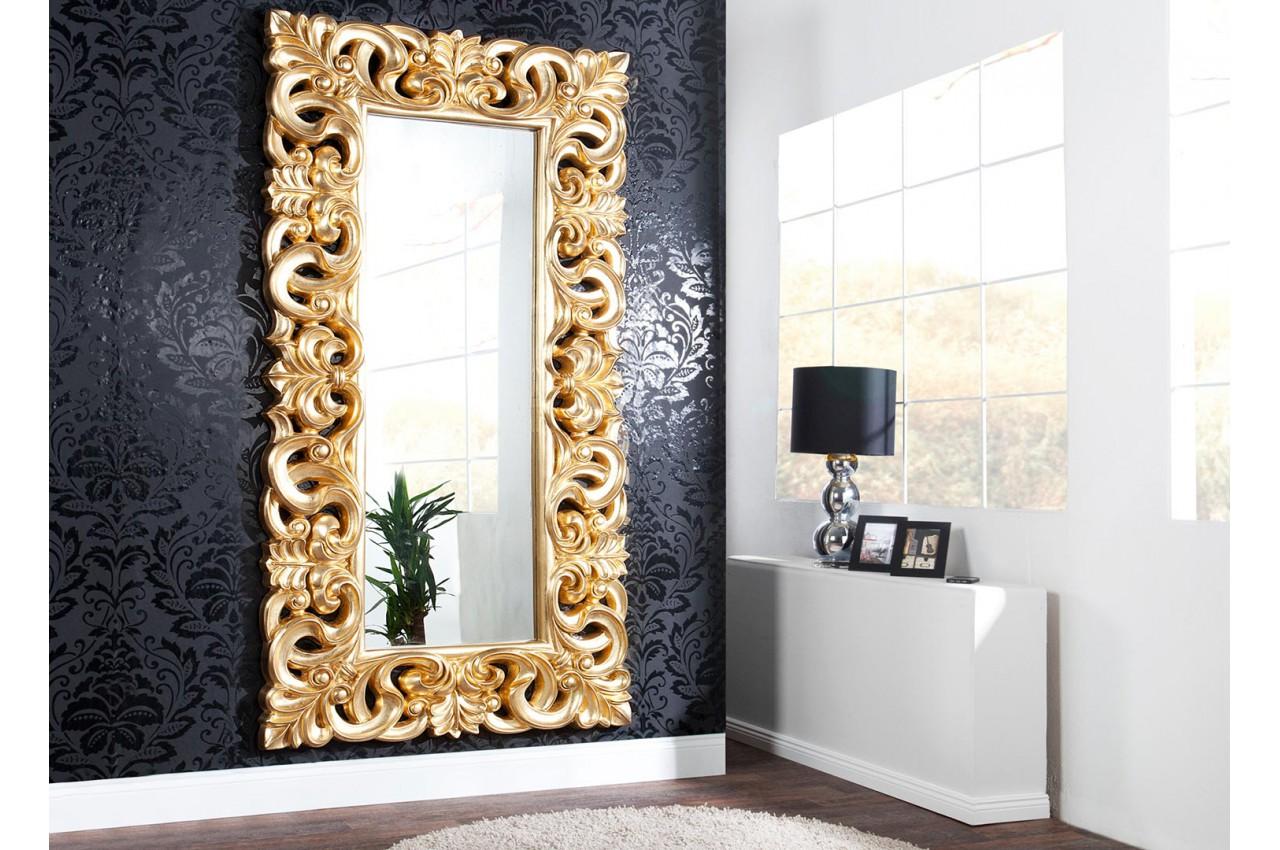 Grand Miroir D Entrée miroir baroque doré 180 cm pour déco