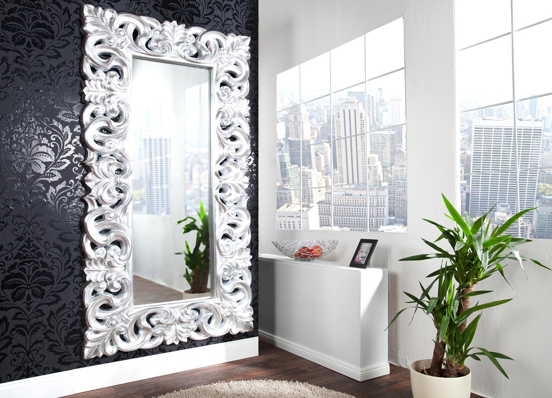 Miroir Baroque Argente 180 Cm Pour Deco