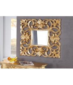 Miroir baroque carré or antique