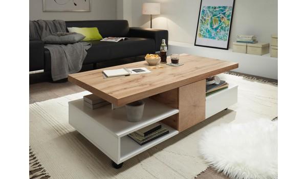 Table basse design rectangulaire - Multiples rangements