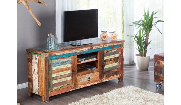 Meuble Tv Industriel En Bois Recycle Pour Salon