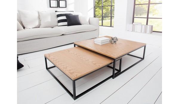 Tables basses carrées gigognes