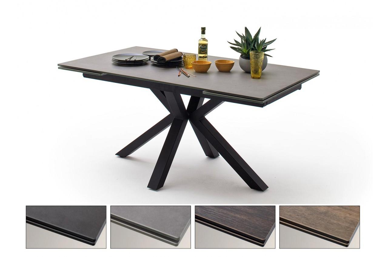 Table Design En Ceramique Et Pietement Metal Noir Design Pour Salle