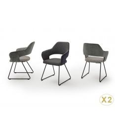Chaise design capitonnée en tissu