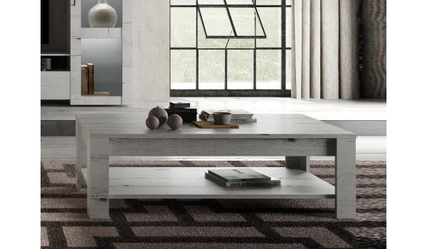 Table basse rectangulaire 140 cm - Déco bois clair