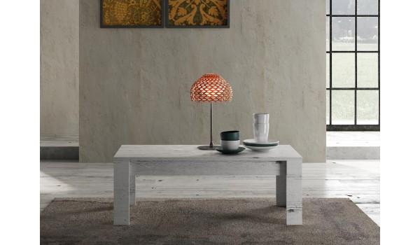 Table basse rectangulaire 122 cm - Déco chêne blanchi