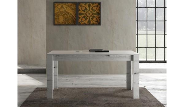 Table déco chêne blanc 160 cm