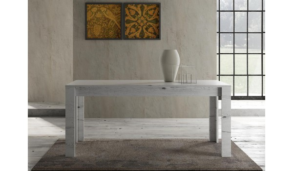 Table à manger 180 cm - Déco chêne blanc