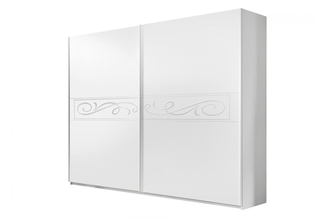 armoire porte coulissante blanche pour chambre adulte. Black Bedroom Furniture Sets. Home Design Ideas