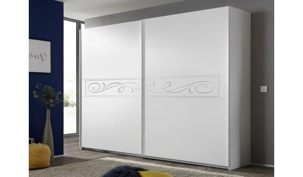 Armoire blanche à porte coulissante 275 cm