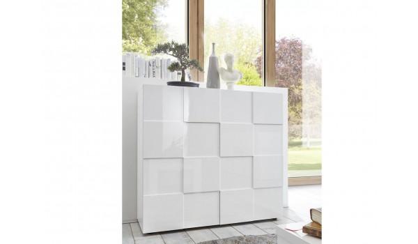 Commode blanc laqué design