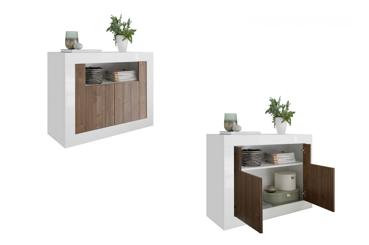 Salon complet blanc bois meuble tv commode biblioth que tag re pour salon - Salon complet ...