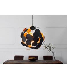Luminaire design or et noir Ø 70 cm