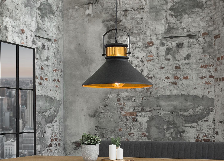 Luminaire Salle De Bain Style Industriel luminaire industriel acier gris et doré pour déco