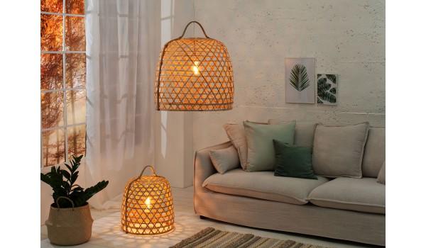 Luminaire à suspende ou à poser en bambou
