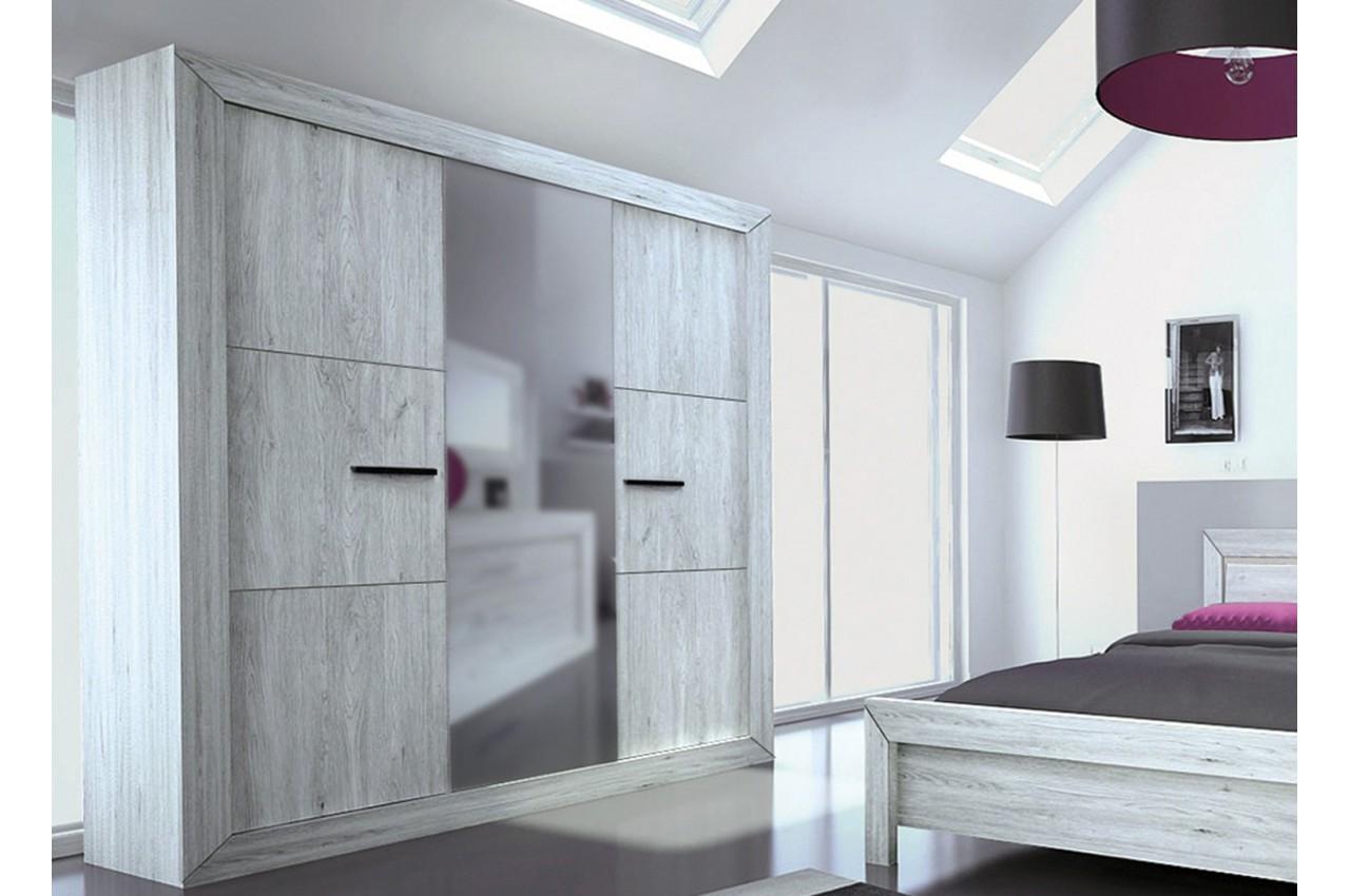 Armoire De Chambre 3 Portes Avec Miroir Moderne Pour Chambre Adulte