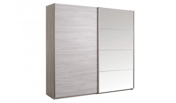 Armoire De Chambre Avec Miroir 2 Portes Coulissantes Pour Chambre Adulte