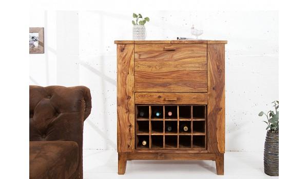 Bar en bois massif de sesham - 15 Casiers