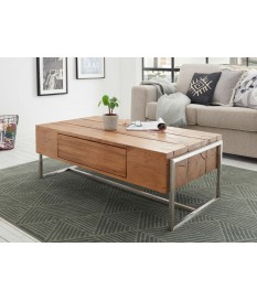 Table basse design rectangulaire en bois