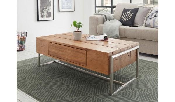 Table basse design rectangulaire en bois