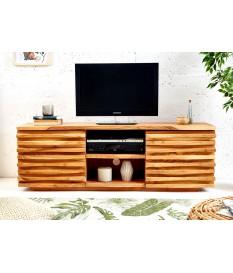 Meuble TV en bois d'acacia massif original