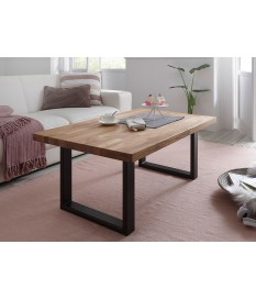 Table basse de salon en bois chêne massif