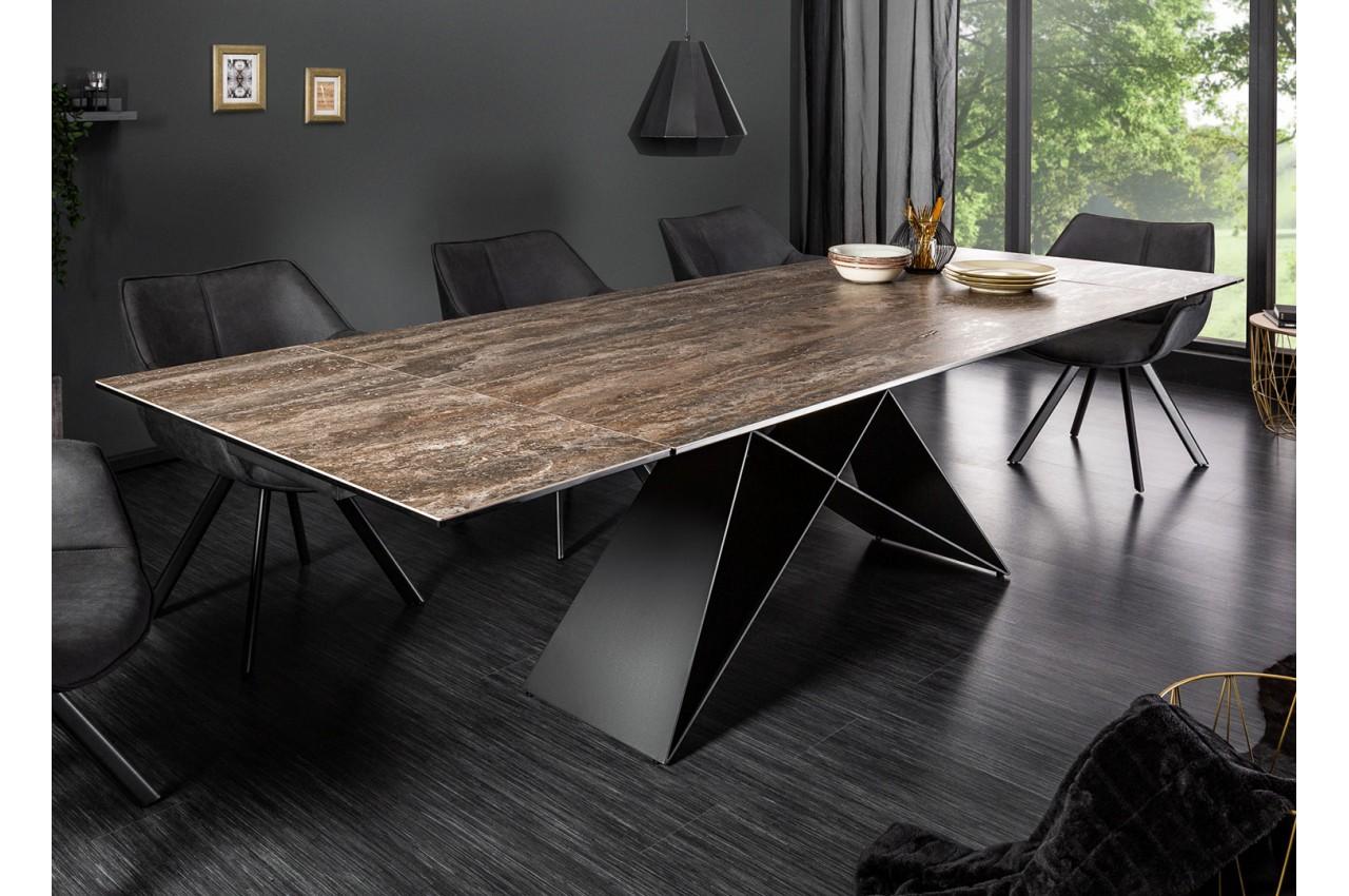 Table contemporaine en céramique - Pied métal noir design ...