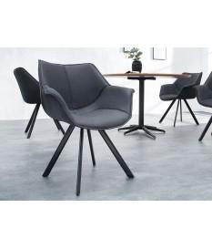 Chaise de salle à manger design grise