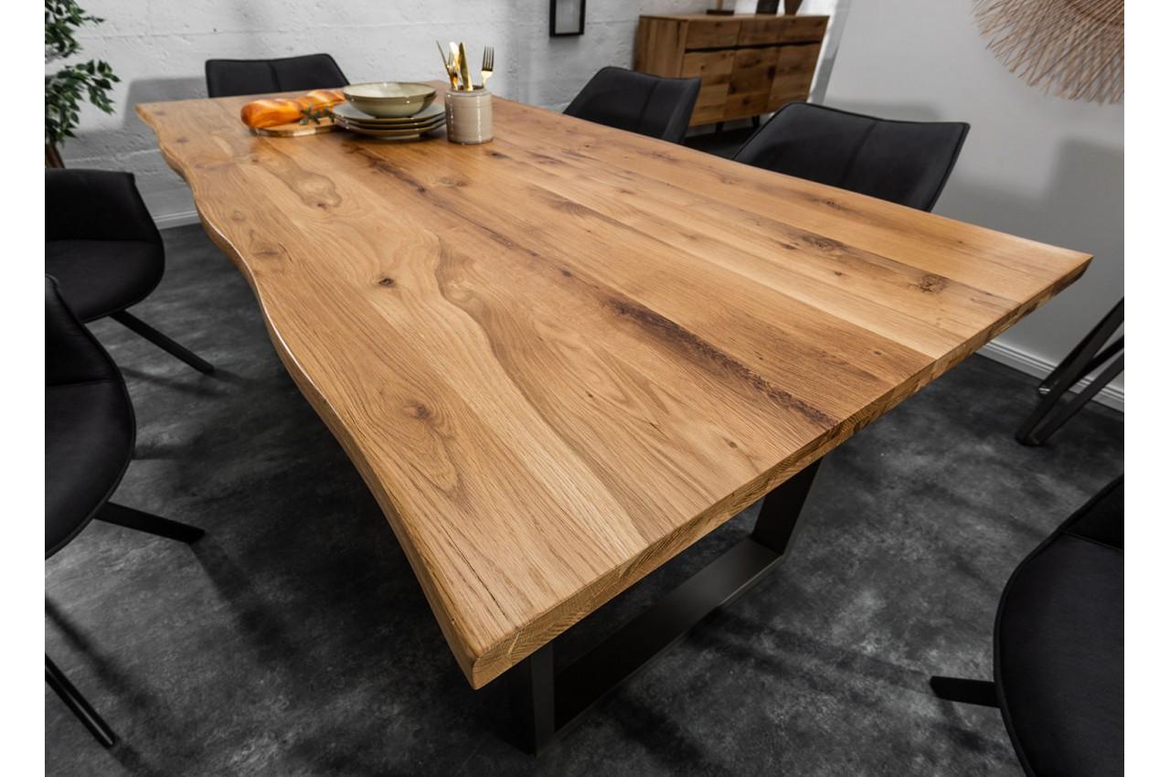 Table salle à manger / Séjour en bois et métal industriel 12 cm ...