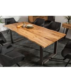 Table Séjour / salle à manger acier et bois industriel 200 cm