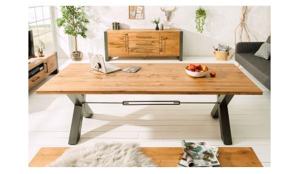 Table Séjour / salle à manger look industriel 200 cm